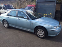rover club 75 2.0 v6 automatic! x-reg 2001! 12mths mot! only 50,000 miles on clock!
