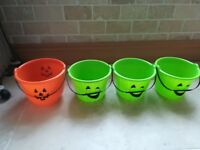 Halloween Plastic Buckets x 4