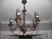 2 X BHS 5 ARM CHANDELIERS CEILING LIGHTS