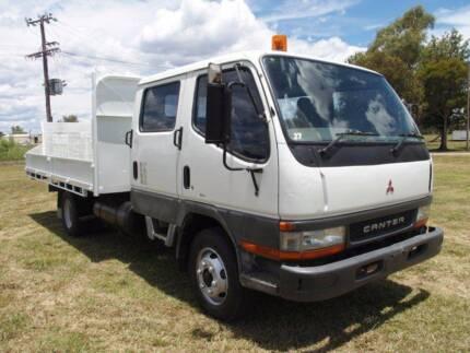 Mitsubishi Fuso Canter 4x2 Dualcab/Crewcab Traytop Truck.