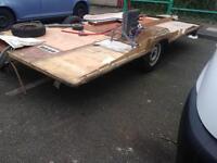 Braked caravan chasis trailer