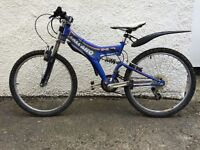 Blue Kids bike. Salcano. 24inch wheels. With gears. (Suitable for 8 - 10 year old)