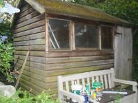 9' x 6' garden shed with felt roof and shiplap cladding