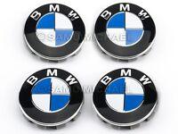 BMW ALLOY WHEEL CENTRE CAPS 68MM BRAND NEW SET x 4