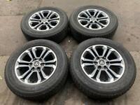 "Mitsubishi L200 18"" Alloys Original Genuine Wheels and Bridgestone 265/60/18 Tyres"