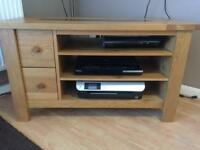 Solid oak tv unit / stand