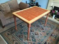 Tiled Wooden Kitchen Table H29.5in/75cmW29.5in/75cmL47in/120cm