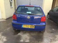 VW polo 1.4 petrol auto 2001 Cheap car cheap on insurance not corsa yaris