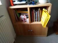 Ikea wooden storage cupboard