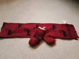 Scarf and mitton 3-6yrs old BNWT