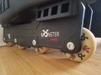 Monster inline roller blade skates size 9