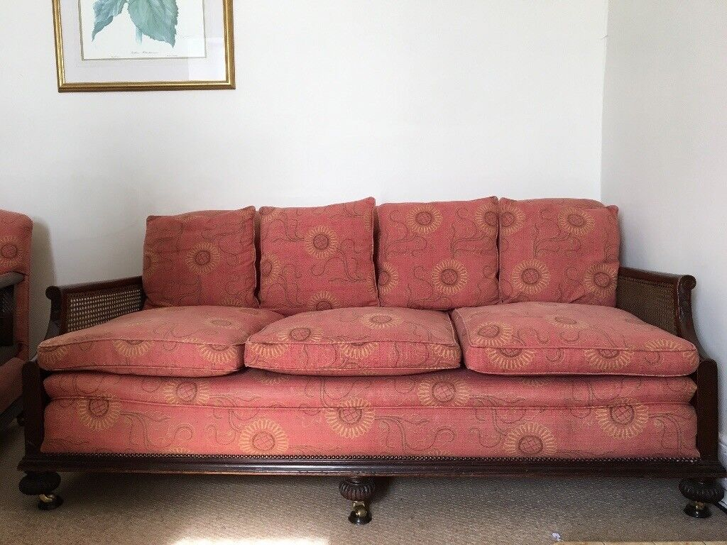 Antique Bergere Sofa and two chairs