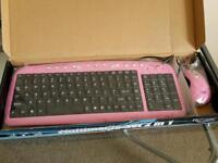 Pink keyboard & mouse brand new & boxed
