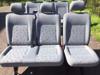 VW T5 Shuttle rear seats full set six seats and fittings