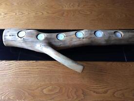 Driftwood Log Candle Holders