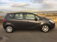 Vauxhall Meriva 1.4s in grey ,new mot ,service history , lovely condition,GENIUNE reason for sale