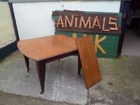 Vintage Winding Expandable Square Table Deliver Available