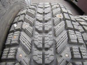 4---P235/75R15 Firestone WinterForce---studded