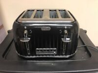 Morphy Richards Black Accents 4 silce toaster