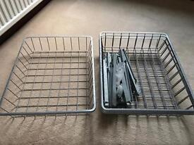 Ikea Komplement Pax Wardrobe Metal Clothes Storage Baskets