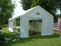 30 feet by 13 feet aprox, 5 section marquee. comes with lights, ground bar set, bar and table. etc