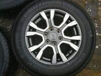 Ford Ranger Wildtrak genuine Borbet alloys with tyres