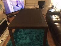 Plastic Rattan Effect Garden Table in Brown