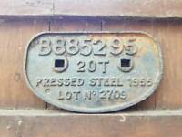 Old railway sign