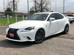 2016 Lexus IS 350 F SPORT**AWD**LEATHER**NAV**BACK UP CAM**