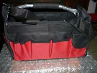 TOOL BAG, with carry handle and shoulder strap.