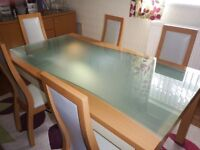 Dining Table (6 chairs) and sideboard set