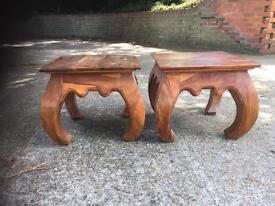 Indian Oak side tables