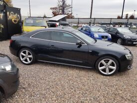 2009-59 AUDI A5 2.0 tdi S-Line black leather FULL HISTORY MINT CONDITION REALLY WELL CARED FOR