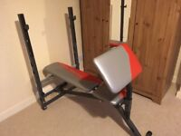 York Fitness weights bench - leg and preacher curl attachments