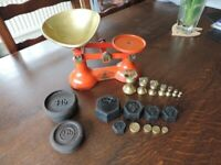 Vintage Cast Iron Kitchen Scales by FJ Thornton & Co Ltd The Viking And Weights