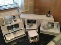 Bathroom Set - NEW - B&Q High Quality - 6 Piece Chrome Bathroom Set - Bathroom Accessories