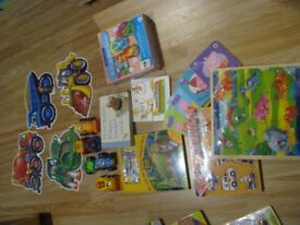 Bundle of toys books and puzzles