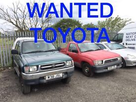 TOYOTA HIACE - TOYOTA HILX ANY CONDITION VAN WANTED