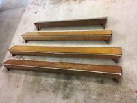 4 wooden radiator shelves