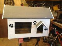 Cat refuge. Cat house. Cat shed