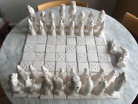 """Reynard the fox"" Chess pieces"