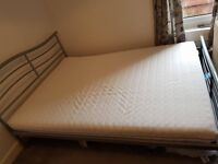 Bed frame & nearly new mattress