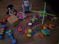 Toy bundle with some musical toys