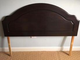 Dark wood double headboard OFFERS