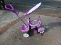 Little Trikes 4-in-1 Purple Trike - excellent condition