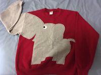 Unisex elephant sweatshirt