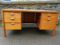 Sturdy large wooden desk
