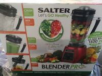 Salter Pro 1500 Smoothie and Juice maker+Accessories, brand new