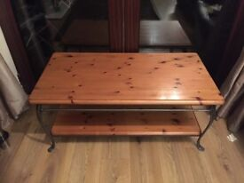 Ducal coffee table and matching Backers rack