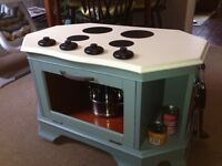 Child's outdoor mud/play kitchen- upcycled, hand-painted.